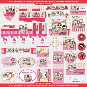 Arte Digital Kit Festa Meninas Super Poderosas 001