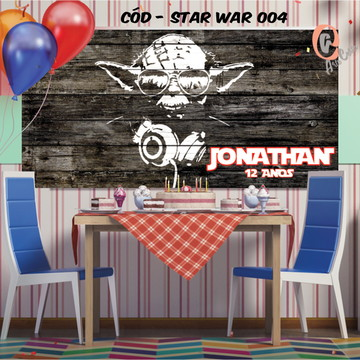Painel festa decoração personalizado star wars