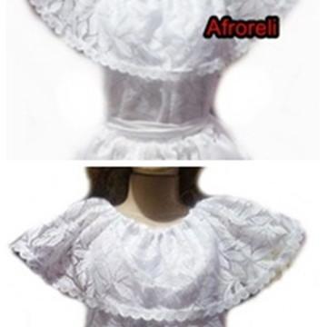Bata Blusa renda roupa de santo bahiana umbanda moças exu
