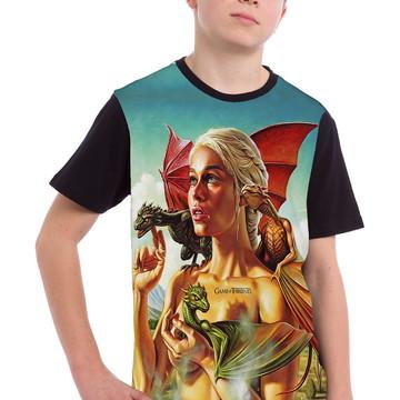 Camiseta Roma manga curta infantil Emilia preta