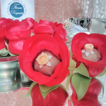 Forminhas de doces botão de rosa