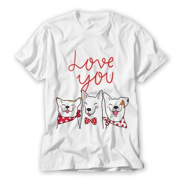 Camiseta Love you Dogs