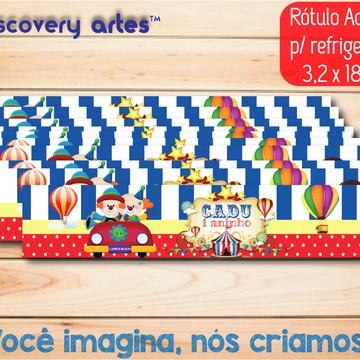 Rótulo Adesivo refrigerante Circo