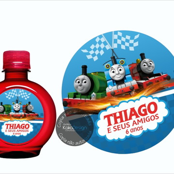 Adesivo água redonda Thomas e Seus Amigos