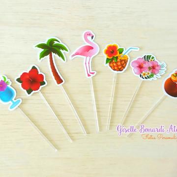 Topper Flamingo Festa Tropical