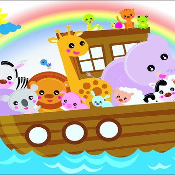 Painel Decorativo Arca de Noé