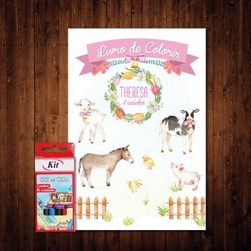 Livro de Colorir Fazendinha Candy Colors (Giz de Cera)
