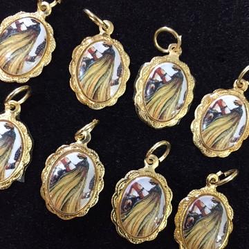 Medalhinhas de aluminio rendada Obaluaê
