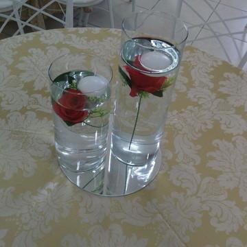 Vaso cilíndrico, Vidro para decoração Arranjo de mesa