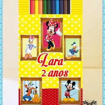 Lapis de Cor Personalizado Minnie