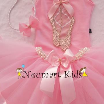 8272e4c0a9 Fantasia Bailarina Luxo 3 a 6 anos