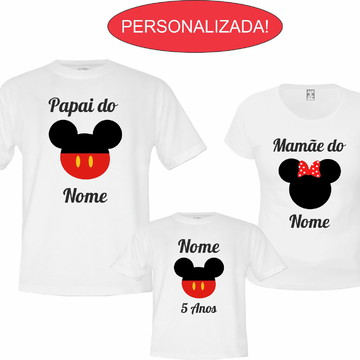 Kit 3 Camisetas Para Aniversário Do Mickey E Da Minnie !