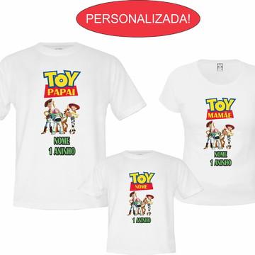 Kit 3 Camisetas Personalizadas Aniversário Toy Story !