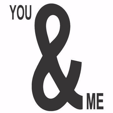 Adesivo Decorativo You And Me Eu E Você Amor