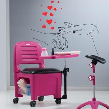 Adesivo Decorativo Para Salão Manicure Cuidado Com As Unhas