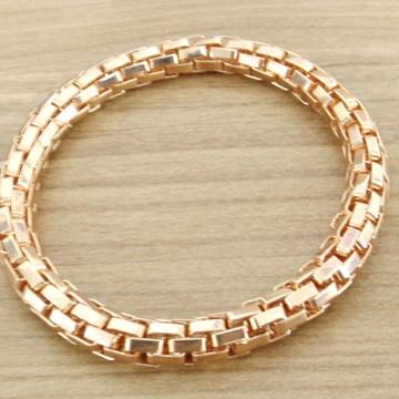 Pulseira Bracelete Feminino Folheada Ouro Rosê