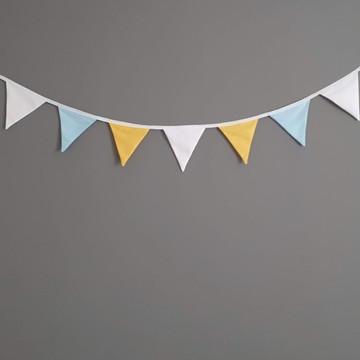 Bandeirinhas de tecido Branca Azul e Amarela