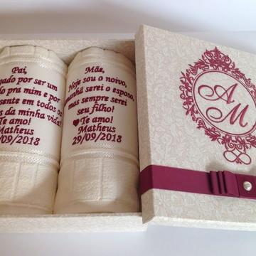 Caixa Casamento Marsala Lembrança para os pais da noiva /o