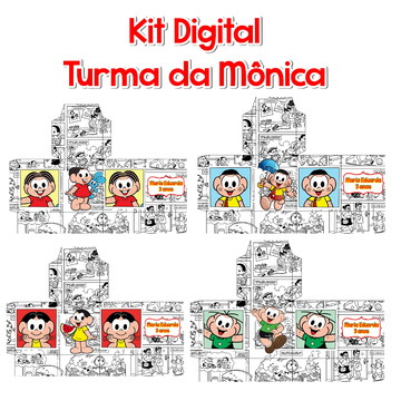 kit digital | turma da mônica | arte digital