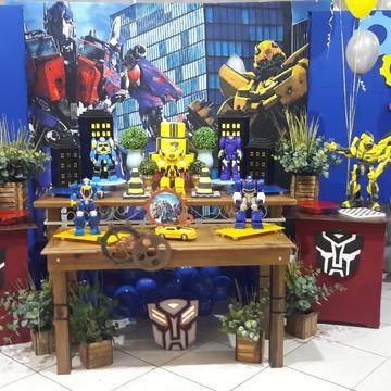 Mesa Decorada - Tema Transformers