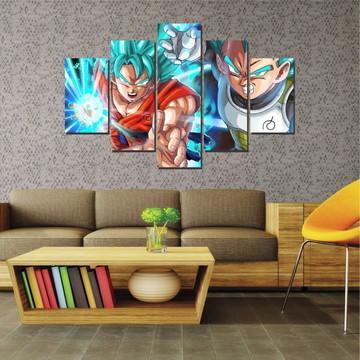 Quadro Mosaico Decorativo Goku e Vegeta Super Sayajin