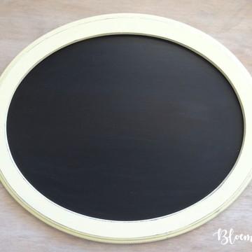 .Lousa Oval Moldura Rústica G