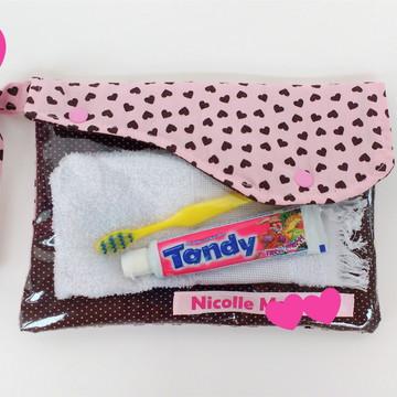 Necessaire Higiene Bucal Personalizada Infantil Escolar