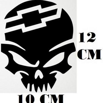 c5de2c72d Adesivo Logo Chevrolet Caveira Frete Grátis