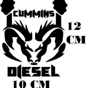 Adesivo Logo Dodge Cummins Diesel Frete Grátis