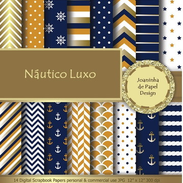Kit Scrapbook digital Náutico Luxo
