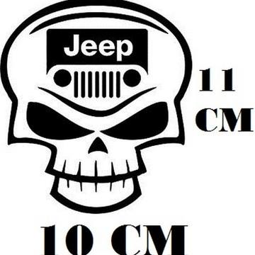 429862712 Adesivo Logo Jeep Caveira Frete Grátis
