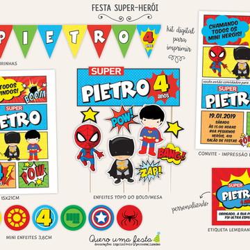 FESTA SUPER HEROIS - kit digital