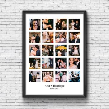 Quadro Personalizado com Fotos - Casamento