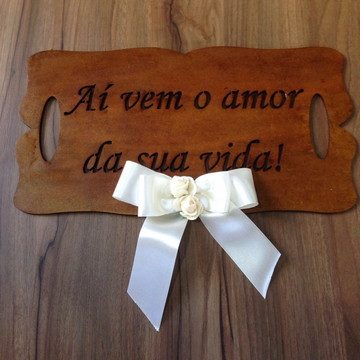 Placa para casamento rustica