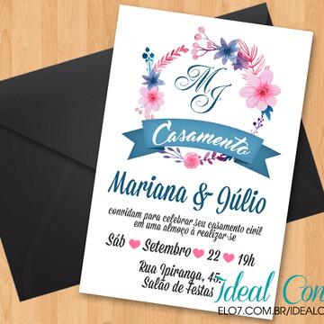 Convite De Casamento Simples Elo7