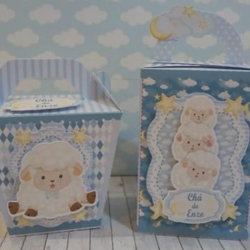 Kit 40 caixas Ovelhinha azul