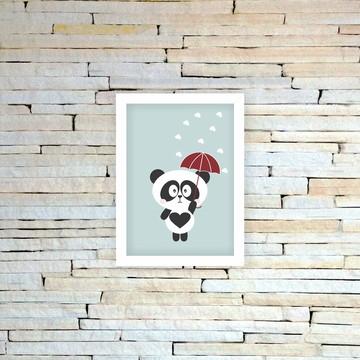 Quadrinho Infantil Panda chuva