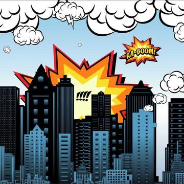 Painel de Festa Super Herois 3
