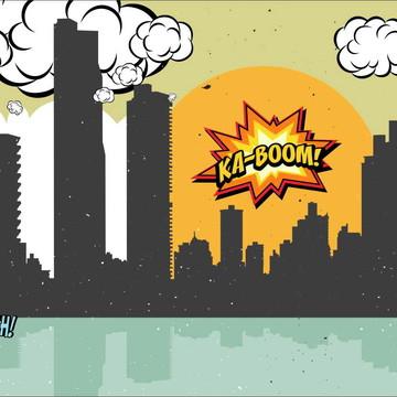 Painel de Festa Super Herois 4