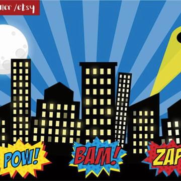 Painel de Festa Super Herois 7