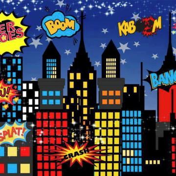 Painel de Festa Super Herois 8