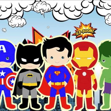 Painel de Festa Super Herois 9
