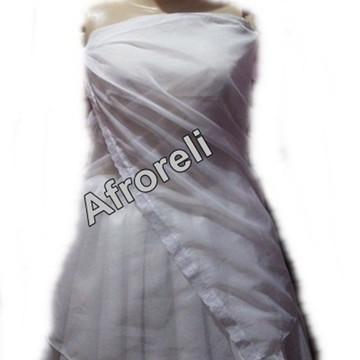 Pano de costas em voal branco umbanda candomble roupa santo