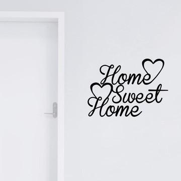 Adesivo De Parede Home Sweet Home Casa Decoração
