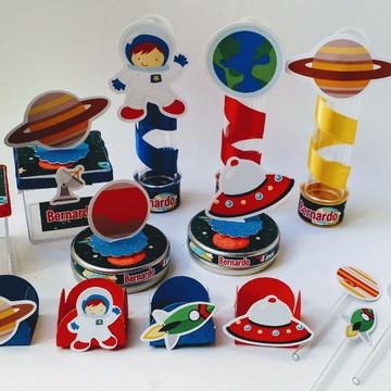 Kit Festa Espaço Astronauta com 90 peças