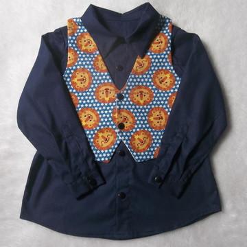c53c86f13e camisa infantil e colete social