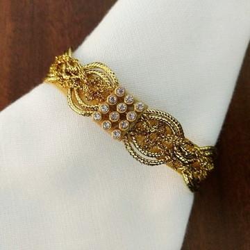 Porta-guardanapo de cordão dourado com strass