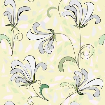 Papel de Parede Floral Delicado em Tom de Verde Água