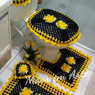 Jogo de Banheiro em croche 5 peças