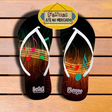 Chinelo Sandália Unissex tema Balada Neon 15 anos - Veja